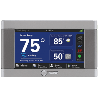 Trane XL850 connected controls.
