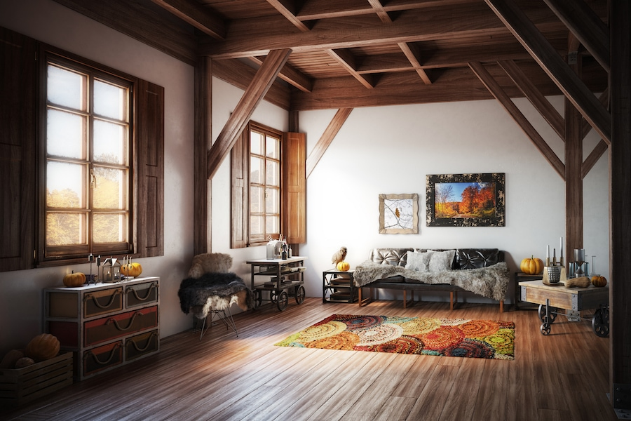 Cozy living room in home representing the 5 reasons to schedule a fall furnace clean and check