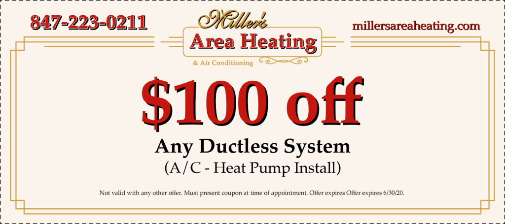$100 off any ductless system