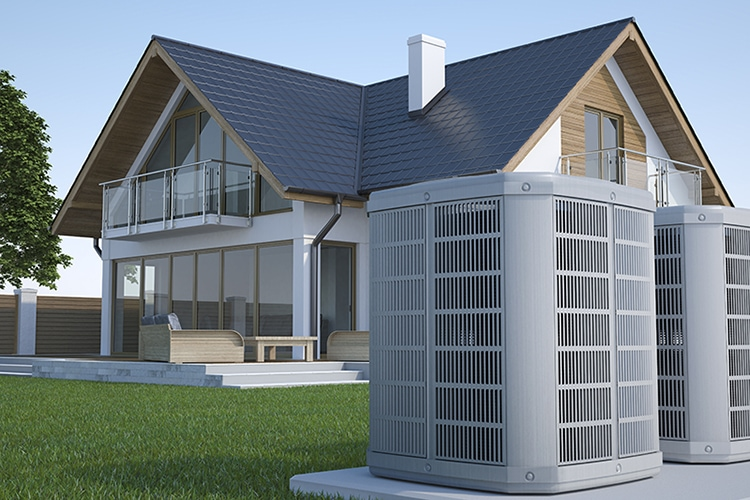 central air conditioner cooling a house in Grayslake, IL
